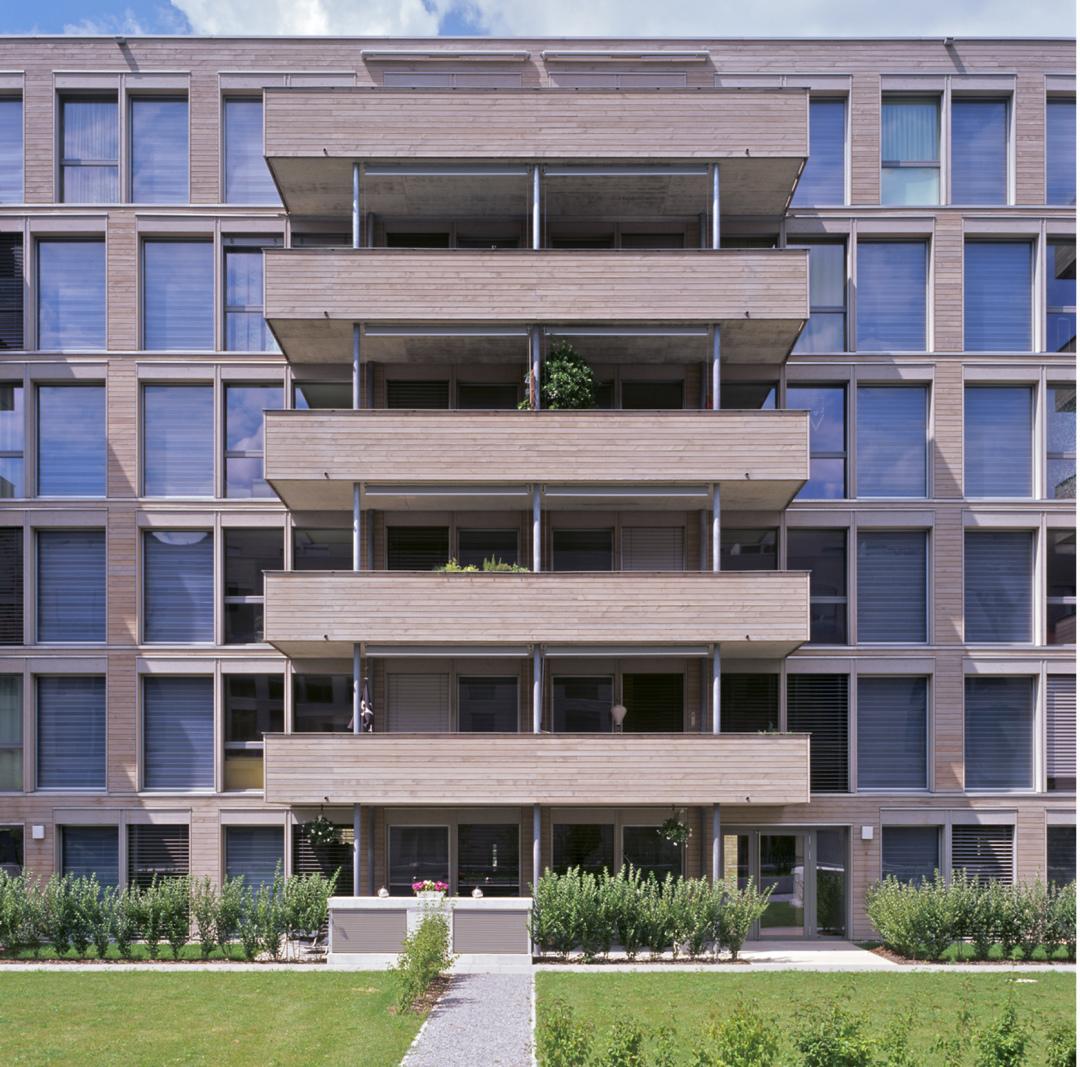Eulachhof, Erste Null-Energie Wohnüberbauung der Schweiz, Winterthur