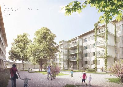 Wettbewerb Wohnsiedlung Klosterbühl, Wettingen